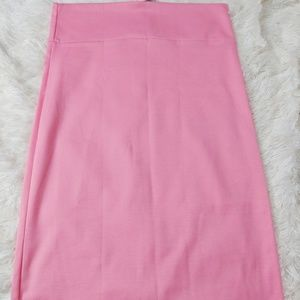 Agnes & Dora Solid Pink Pencil Skirt